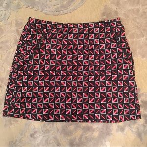 Tail Golf Black and Red Printed Skirt Large